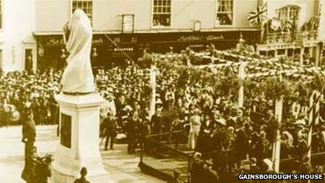 Gainsborough statue unveiling, 1913
