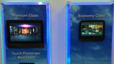 New in-flight entertainment systems by Thales on display at the Singapore Airshow