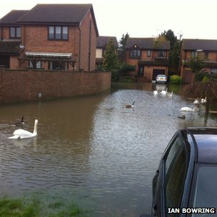 Flooding in Staines. Photo: Ian Bowring