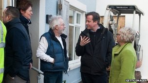 Mr Cameron spent the night in the West Country