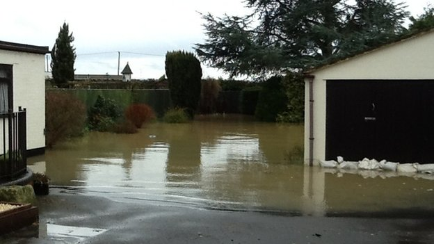 Flooded home in Tewkesbury