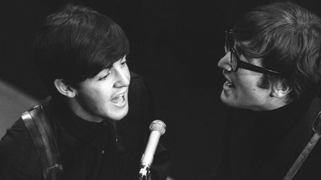 Paul McCartney and John Lennon on BBC Manchester's Saturday Club in 1963