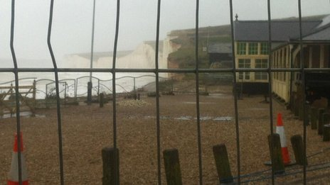 Birling Gap closed off due to cliff falls - 11 February