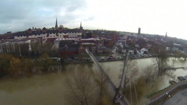 Aerial view Shrewsbury