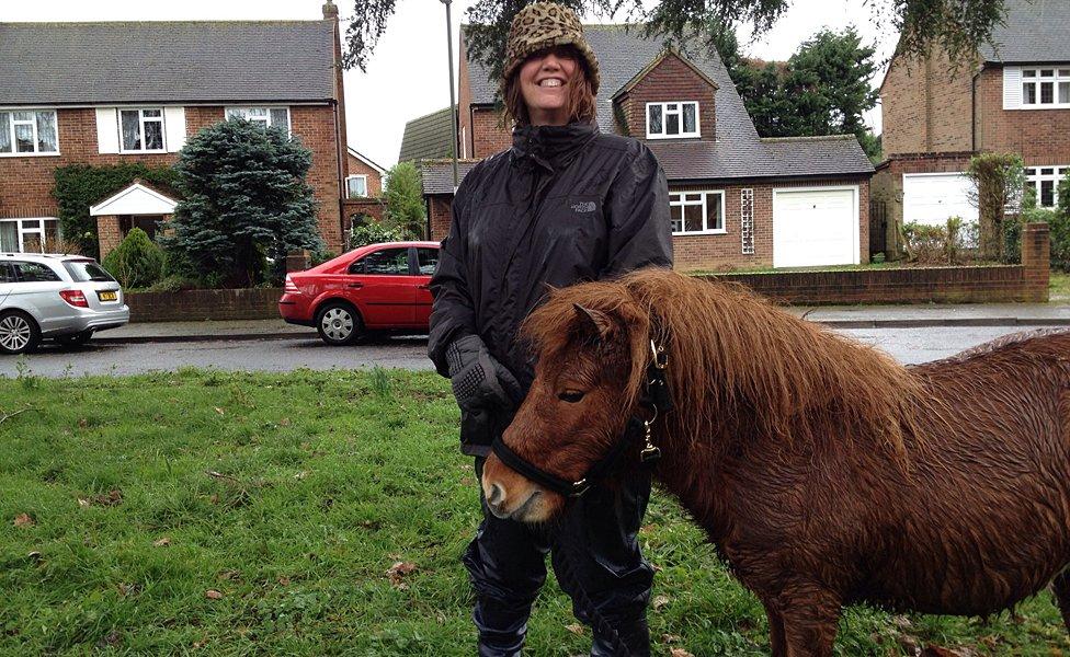Rosemary Wheeler and Shetland pony Ludo