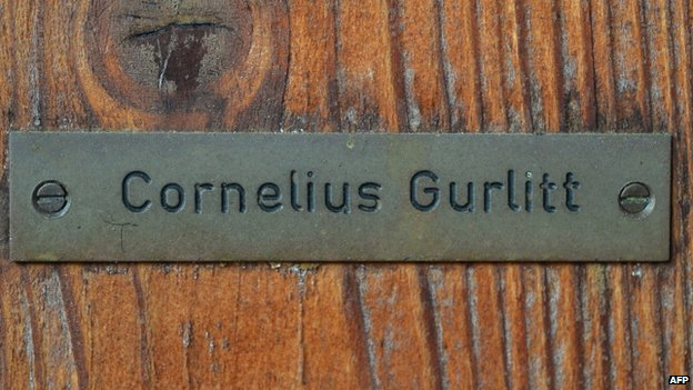 Nameplate on Cornelius Gurlitt's Salzburg home (file pic)