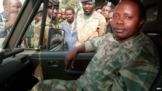 Rwandan former army chief General Augustin Bizimungu is pictured near Goma 27 July 1994 in DR Congo