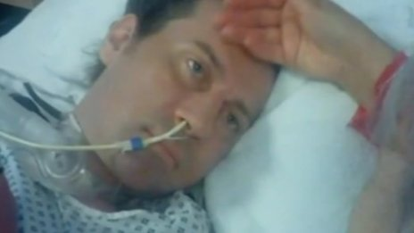 Denby Collins in hospital