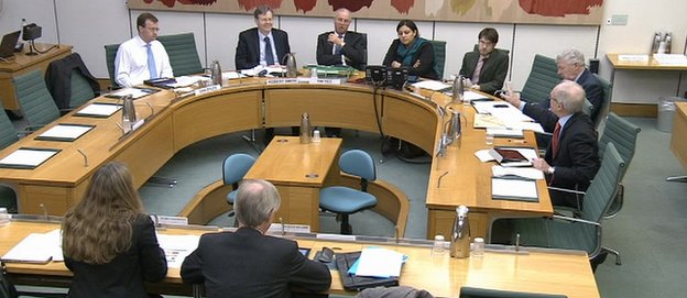 Tuesday's hearing of the Commons climate change committee