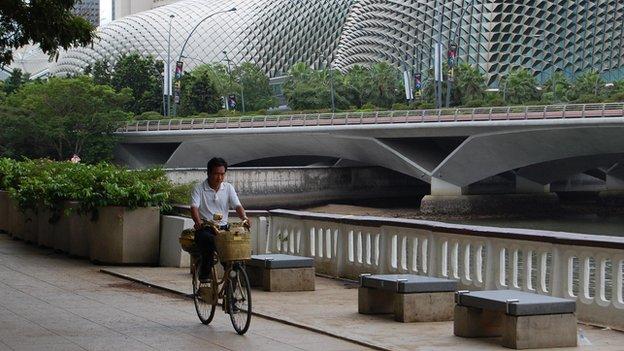Cyclist, Singapore (Image: BBC)
