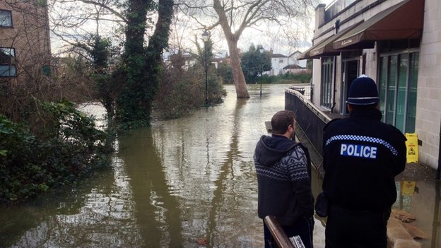Flooding in Staines-upon-Thames