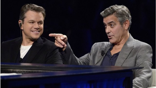 Matt Damon and George Clooney