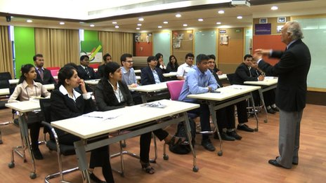Family business MBA class at Welingkar Institute of Management
