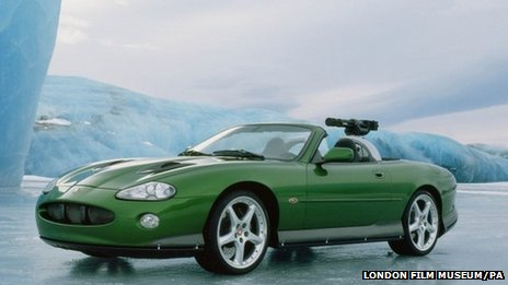 A Jaguar XKR on location in Iceland