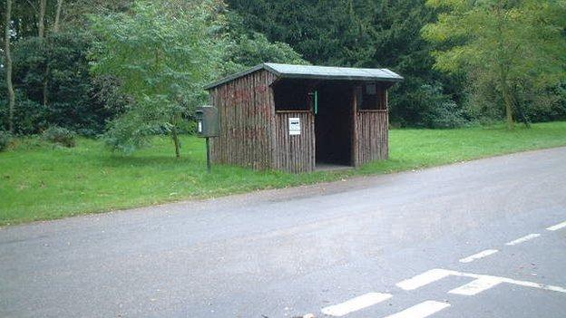 Clumber Park bus stop