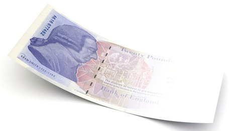 Fading £20 note