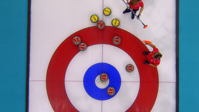 Team GB v USA Curling in Sochi