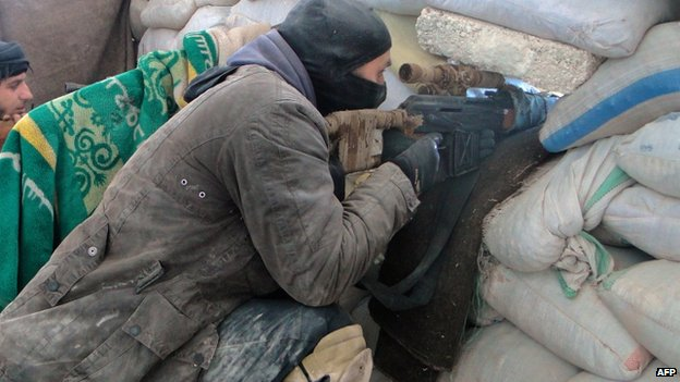 Rebels engaged in fighting at Aleppo prison (6 February 2014)