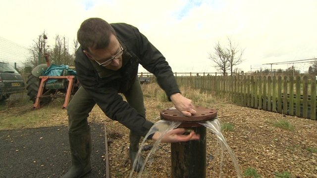 A borehole in Oxfordshire