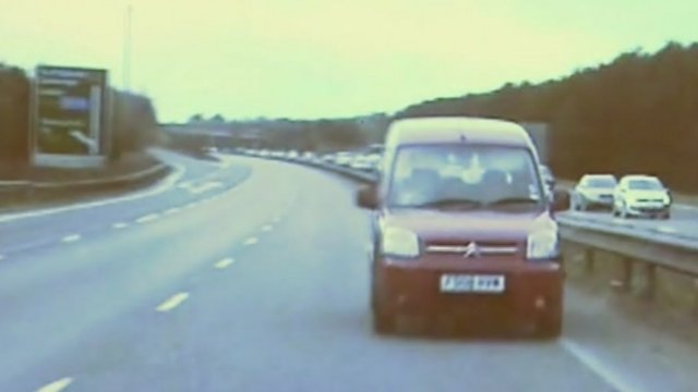 Wrong-way driver on A14 in Suffolk