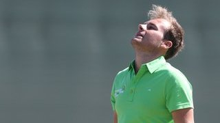 Tyrrell Hatton suffers anguish on the greens in the 2013 Open at Muirfield