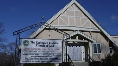 Exterior of the Redeemed Christian Church of God in Melrose, Massachusetts