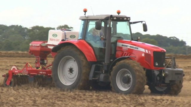 Tractor in Lincolnshire