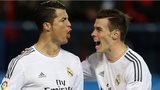 Real Madrid's Cristiano Ronaldo (left) is congratulated by team-mate Gareth Bale