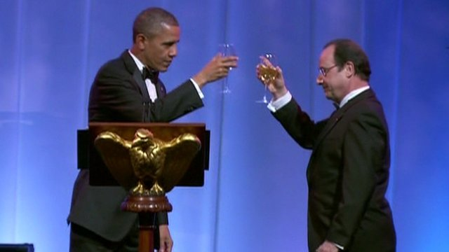 US President Barack Obama and French President Francois Hollande