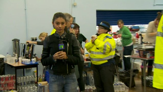 Nel reports from a flooding emergency centre