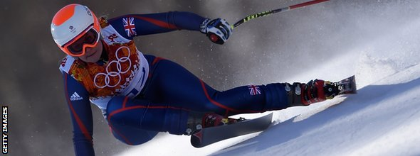 Great Britain's Chemmy Alcott skis during the Women's Alpine Skiing Downhill