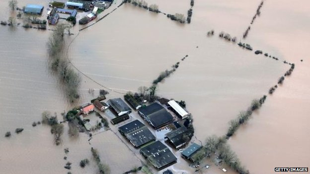 UK storms: Aid effort under way for deluged farmers