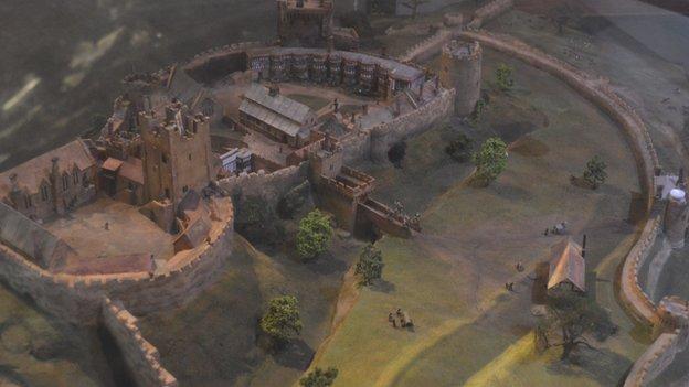 Model of medieval castle