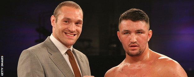 Tyson Fury and Hughie Fury