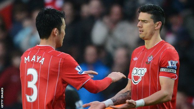 Maya Yoshida and Jose Fonte