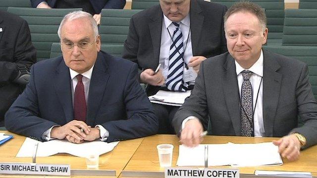 Sir Michael Wilshaw and Matthew Coffey