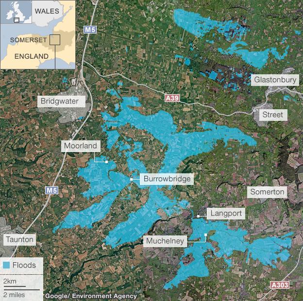 Somerset levels flooding