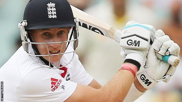 England batsman Joe Root
