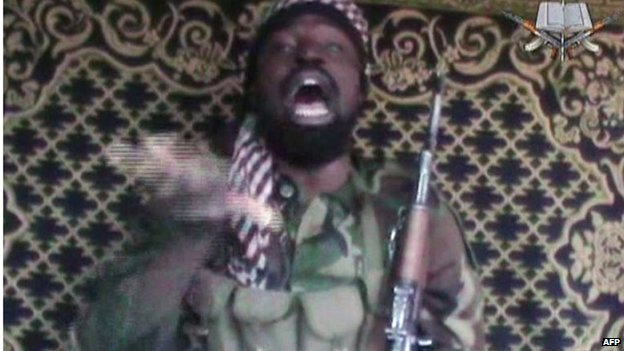 A screenshot taken on 12 December 2013 from a video showing a man claiming to be the leader of Nigerian Islamist extremist group Boko Haram, Abubakar Shekau