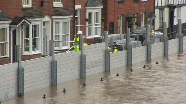 Flood barriers Bewdley