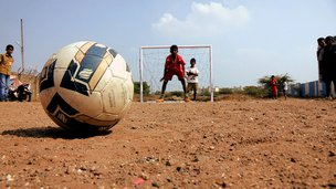 Football and goalkeeper India
