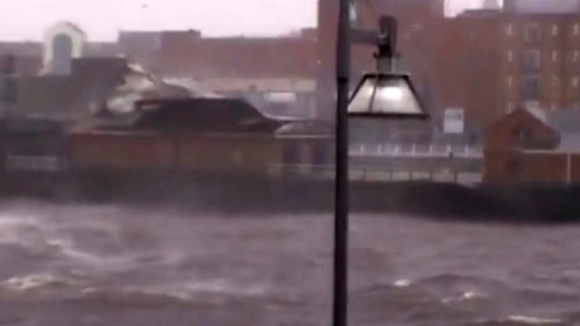 Roof blown off Limerick Boat Club