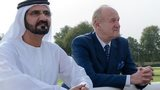 Sheikh Mohammed and Lord Stevens