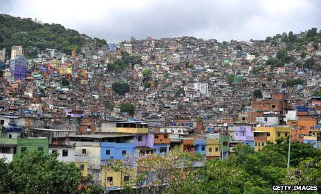 A favela in Rio, Brazil