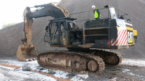 Burnt out digger