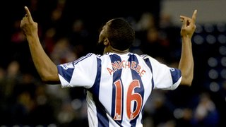 Victor Anichebe nets against Man City at The Hawthorns in December