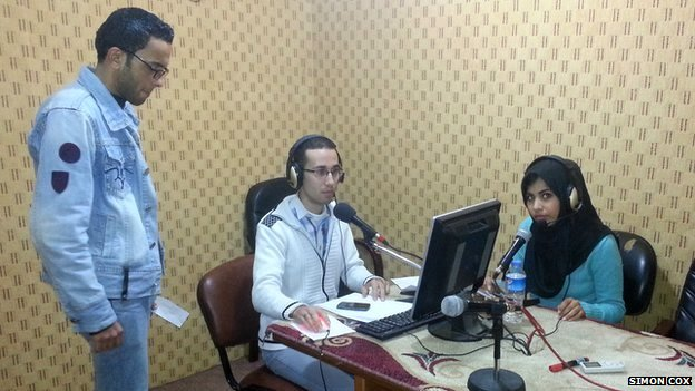 A group of journalists from Alwan radio