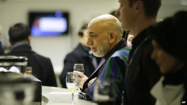 Hamid Karzai in Sochi, 7 Feb