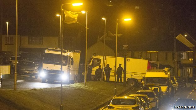Police were called to Patrician Park following reports of an explosion at a house