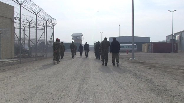 Yalda Hakim and the BBC team enter Bagram jail